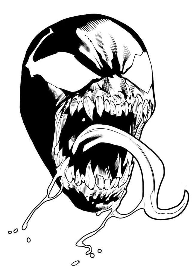 Dibujos Para Colorear Venom Imprimible Gratis Para Los