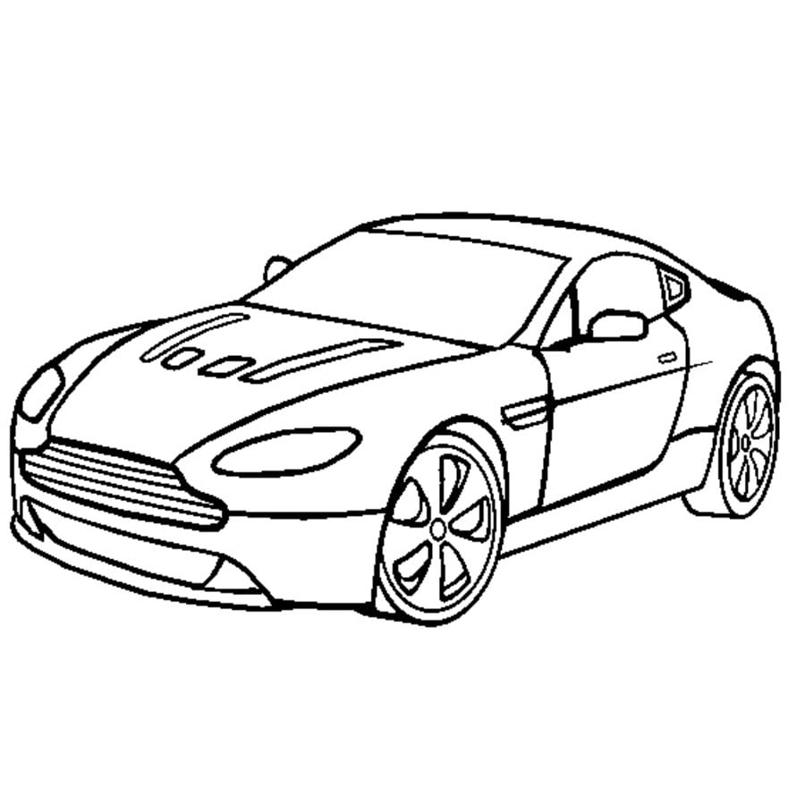 Coloring Pages: Coloring Pages: Aston Martin, Printable