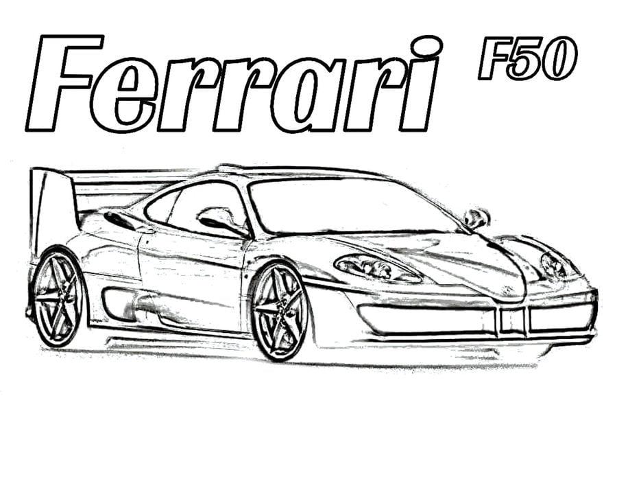 Ausmalbilder Ausmalbilder Ferrari Zum Ausdrucken Kostenlos Für