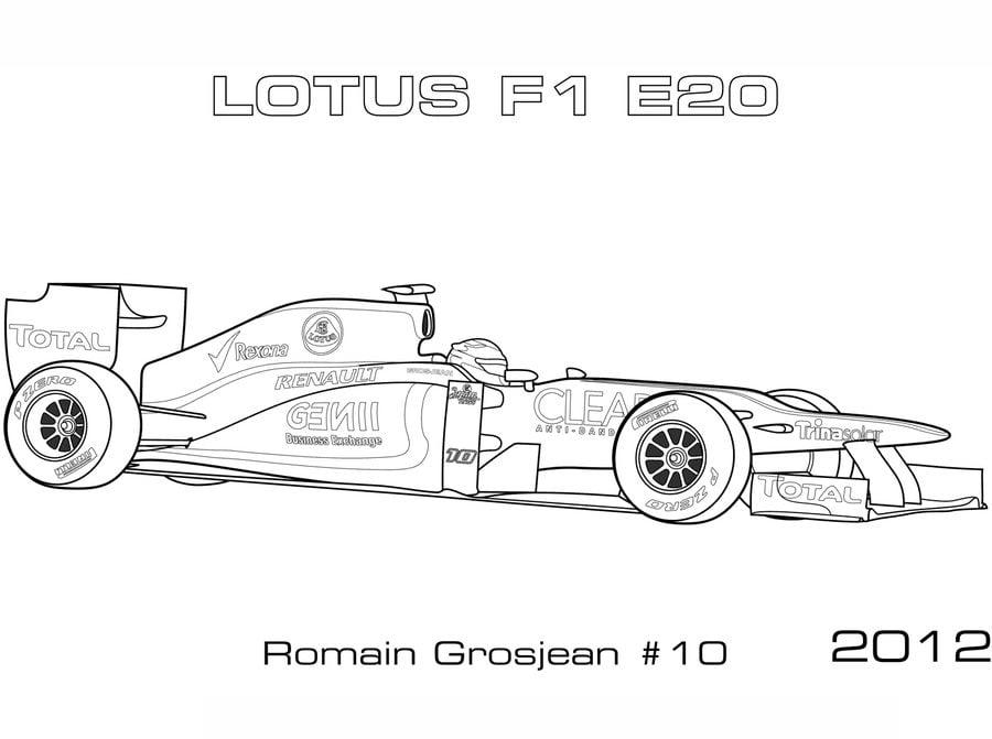 raceauto max verstappen kleurplaat formule 1 kleurplaat
