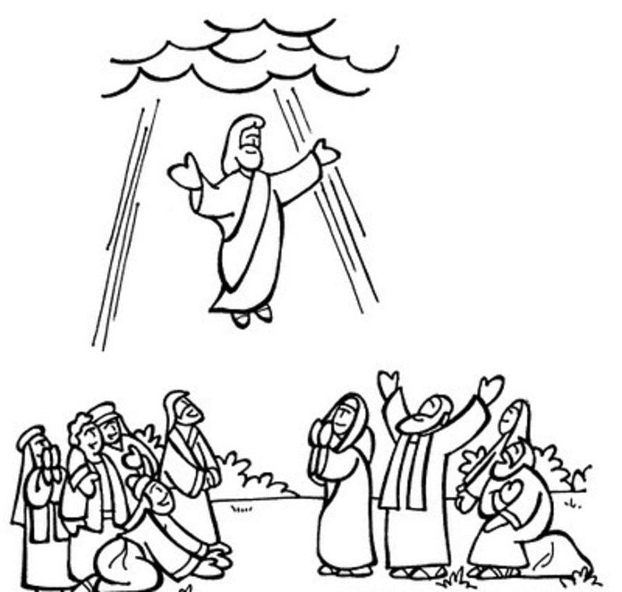 Dibujos Para Colorear Resurrección De Jesús Imprimible Gratis