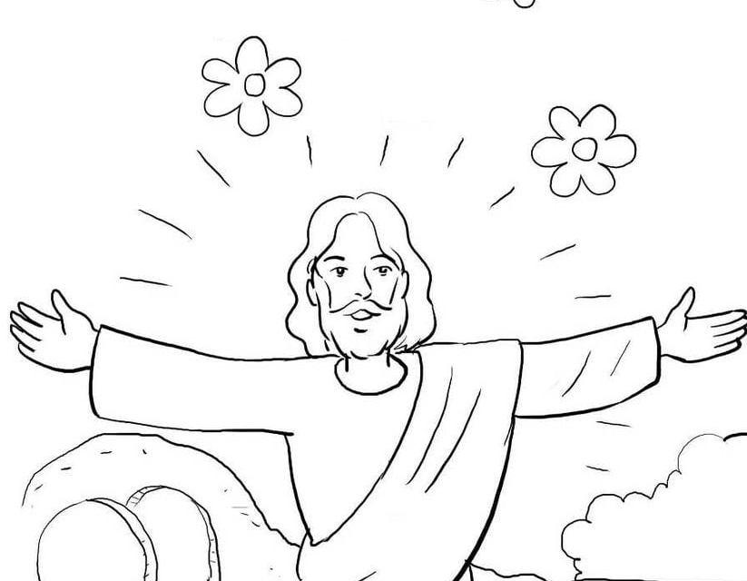 Kolorowanki: Zmartwychwstanie Jezusa