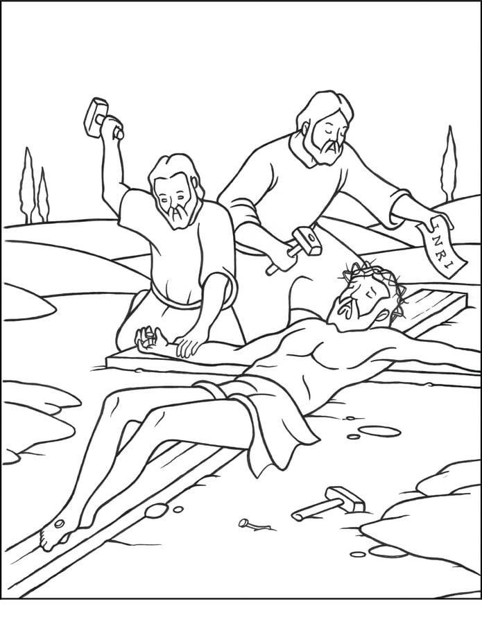 Dibujos Para Colorear Viacrucis De Jesús Estaciones De La