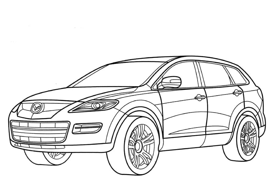Coloring pages: Coloring pages: Mazda, printable for kids