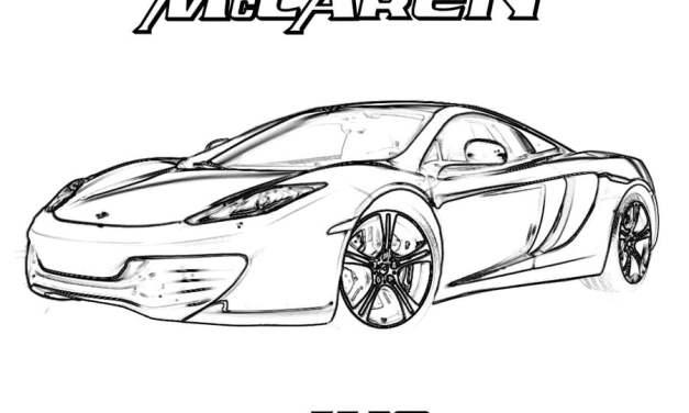 Ausmalbilder: McLaren