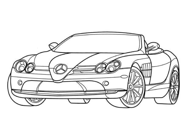 Ausmalbilder: Mercedes