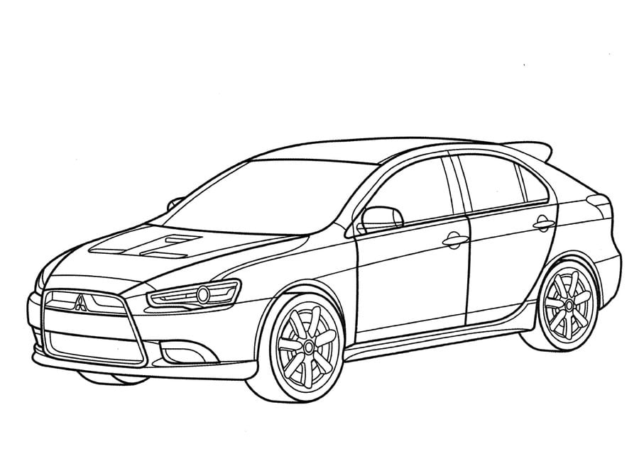 Coloring pages: Coloring pages: Mitsubishi, printable for
