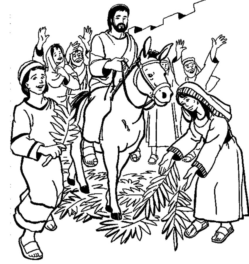 Coloring pages: Coloring pages: Palm Sunday, printable for ...