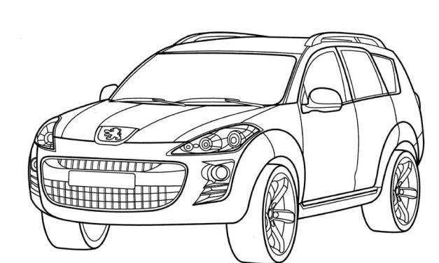 Ausmalbilder: Peugeot