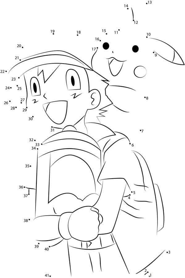 Relier les points: Pokémon imprimable, gratuit, pour les ...