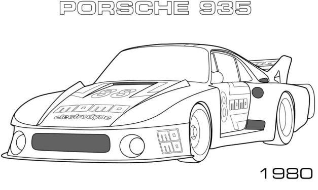 Coloring pages: Porsche