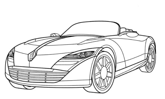 Coloring pages: Renault