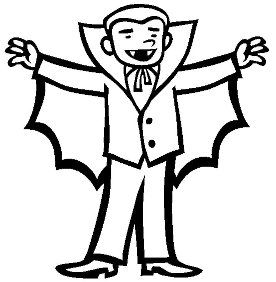 Ausmalbilder: Ausmalbilder: Vampir zum ausdrucken, kostenlos, für