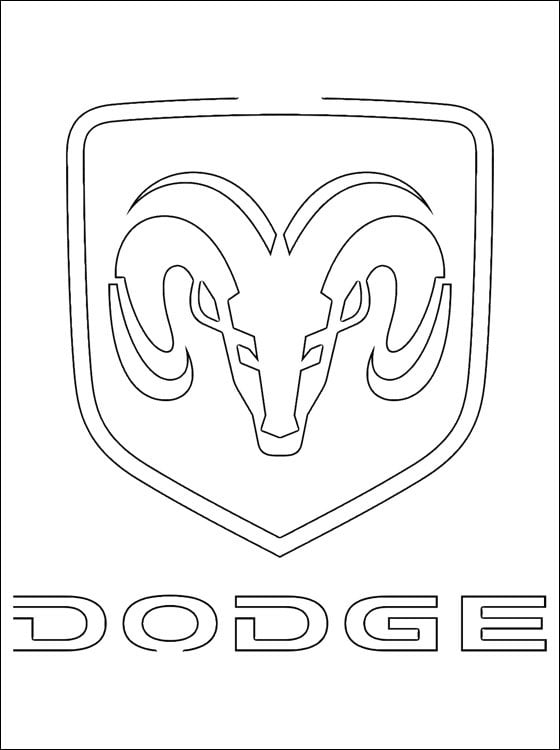 Coloring Pages Coloring Pages Dodge Logo Printable For Kids Adults Free