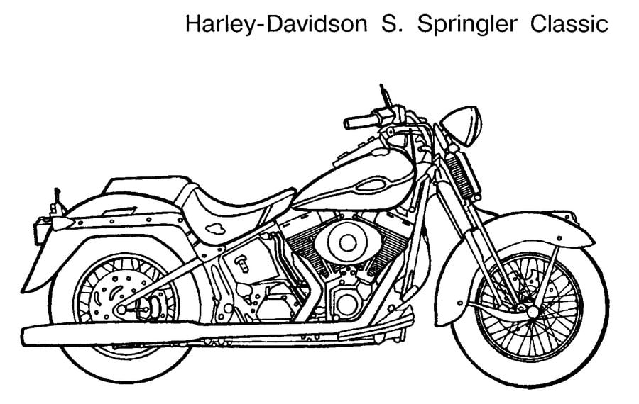 Coloring Pages Coloring Pages Harley Davidson Printable For Kids Adults Free