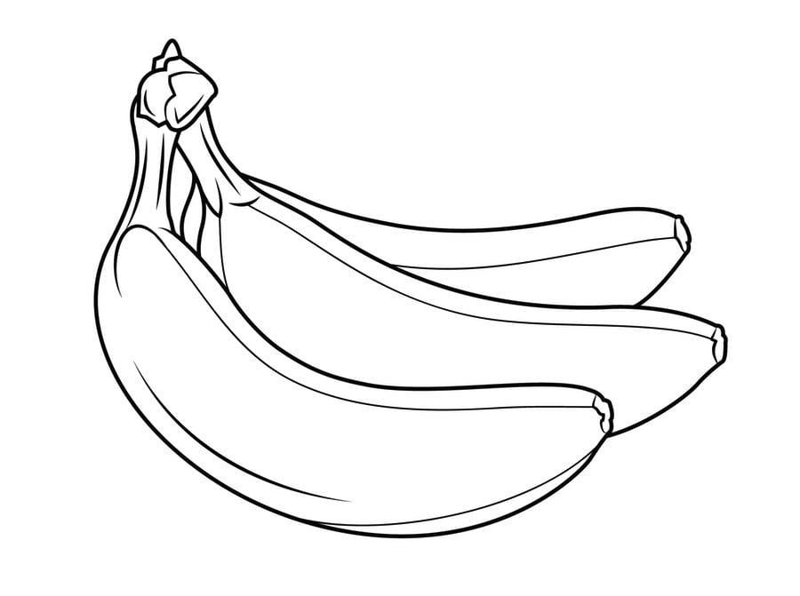 Dibujos Para Colorear Plátano Imprimible Gratis Para Los