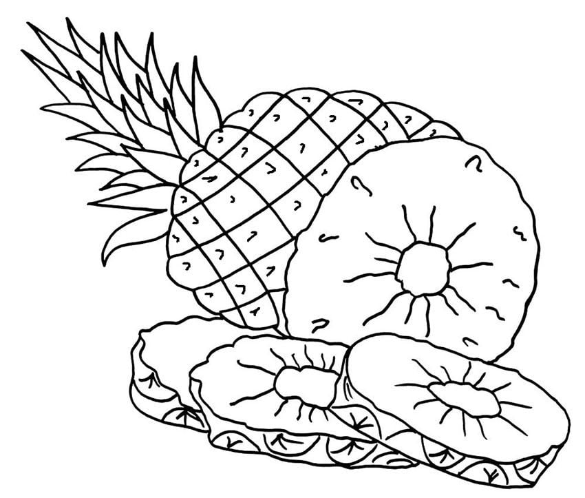 Coloring Pages: Coloring Pages: Pineapple, Printable For Kids & Adults,  Free To Download