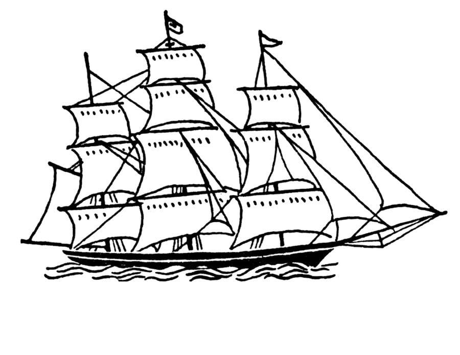 ausmalbilder: ausmalbilder: schiff zum ausdrucken