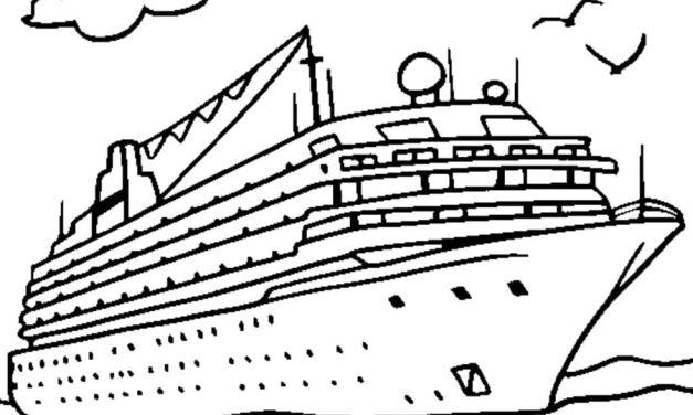 Ausmalbilder: Schiff