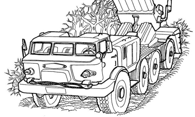 Coloring pages: Army trucks