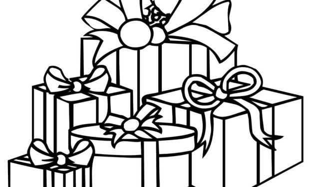 Ausmalbilder: Geschenk