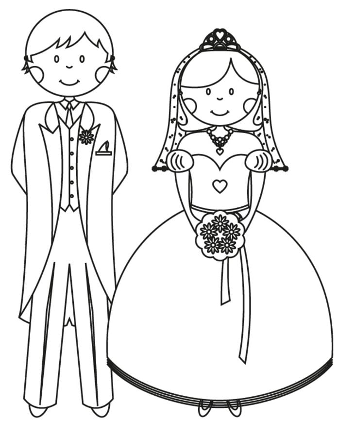 Coloring Pages Coloring Pages Bride And Groom Printable For Kids Adults Free