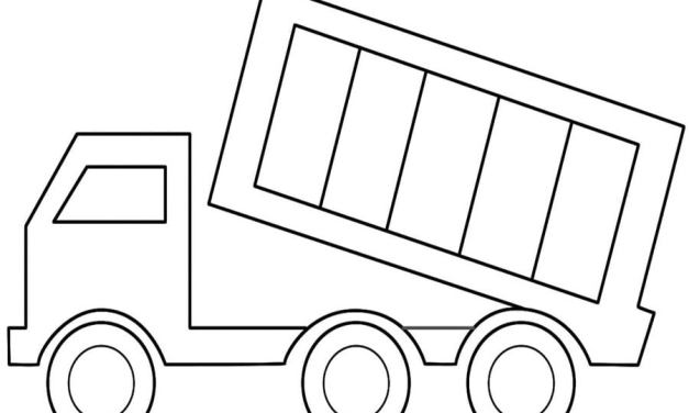 Coloring pages: Dump trucks