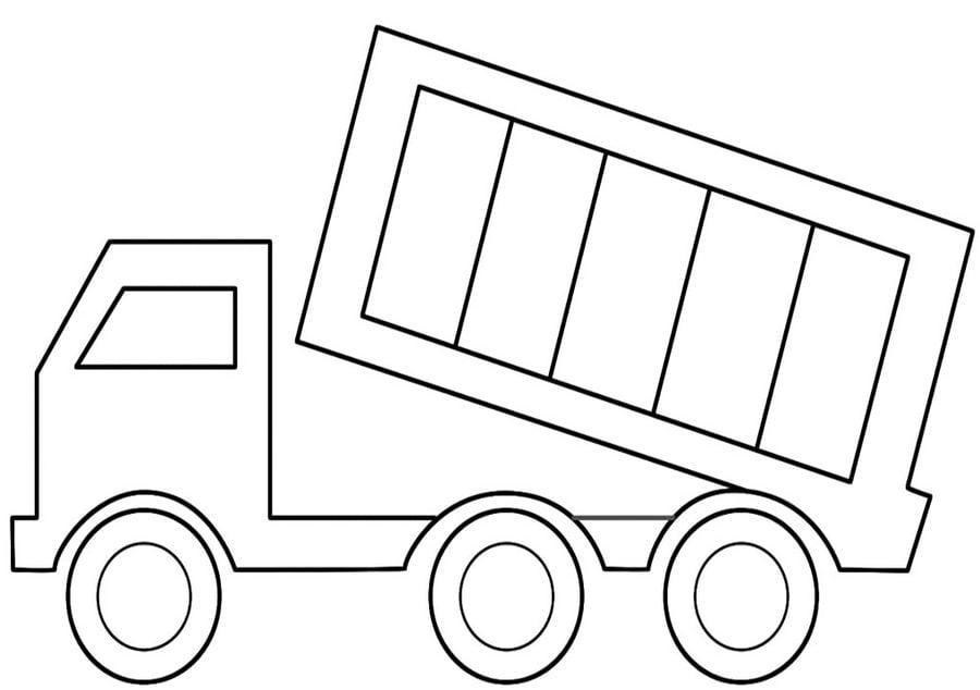 Dibujos Para Colorear Camión Con Volquete Imprimible