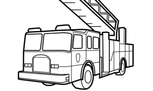 Coloring pages: Fire trucks
