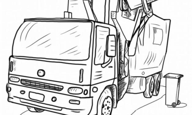 Coloring pages: Garbage trucks