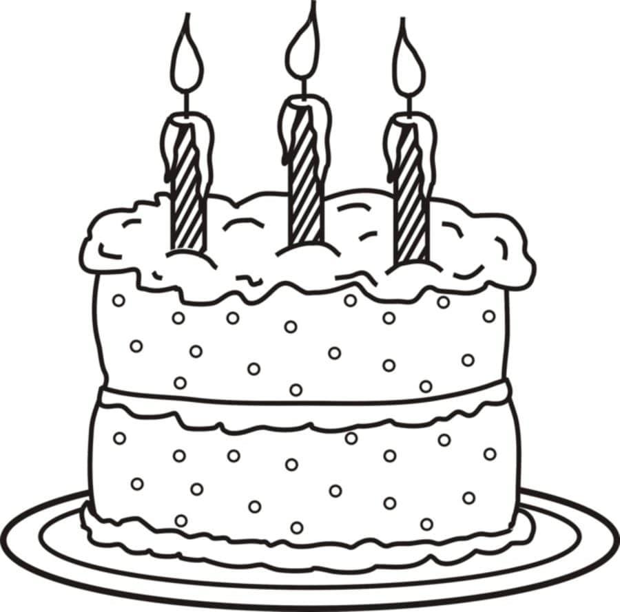 Kolorowanki Kolorowanki Tort Urodzinowy Do Druku Dla Dzieci I Doroslych Do Pobrania Za Darmo