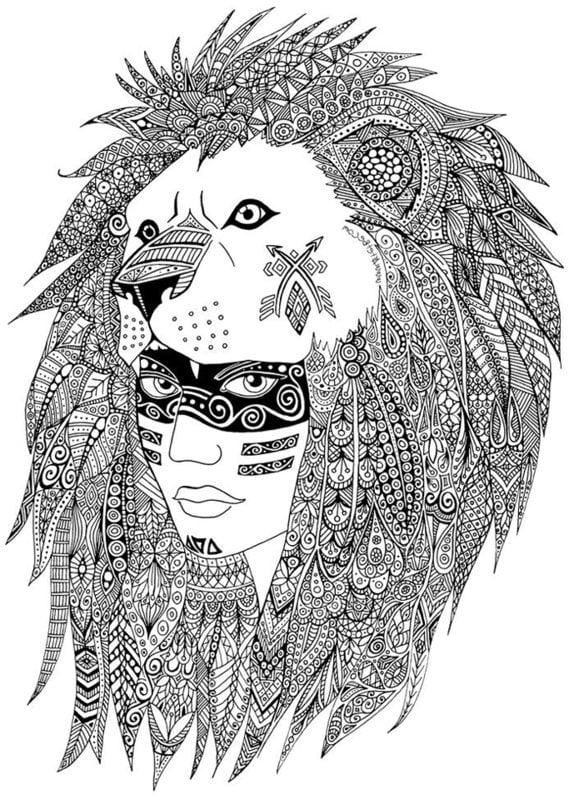 ausmalbilder für erwachsene indianer zum ausdrucken