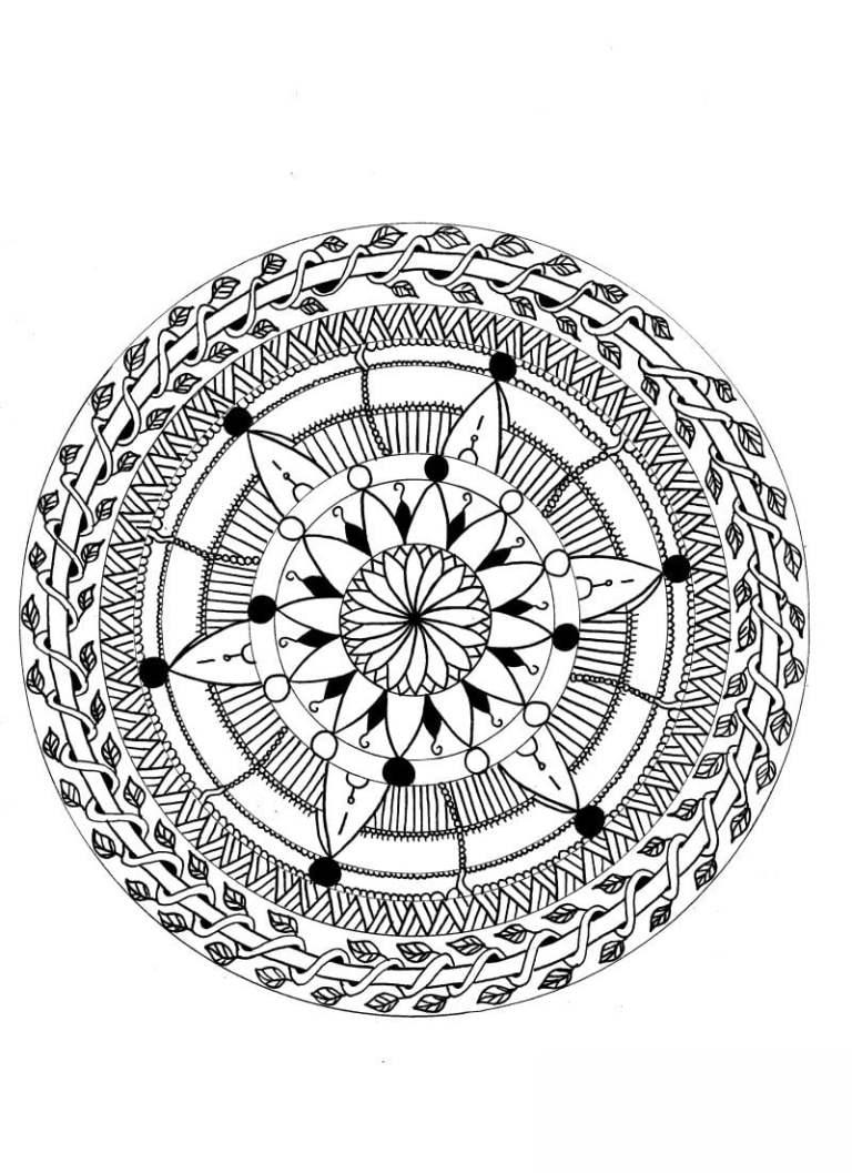 ausmalbilder für erwachsene mandala zum ausdrucken