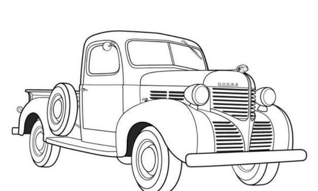 Coloring pages: Antique car