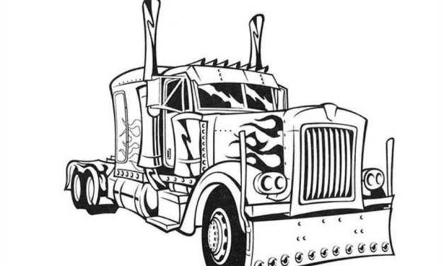 Coloring pages: Semi-trailer truck