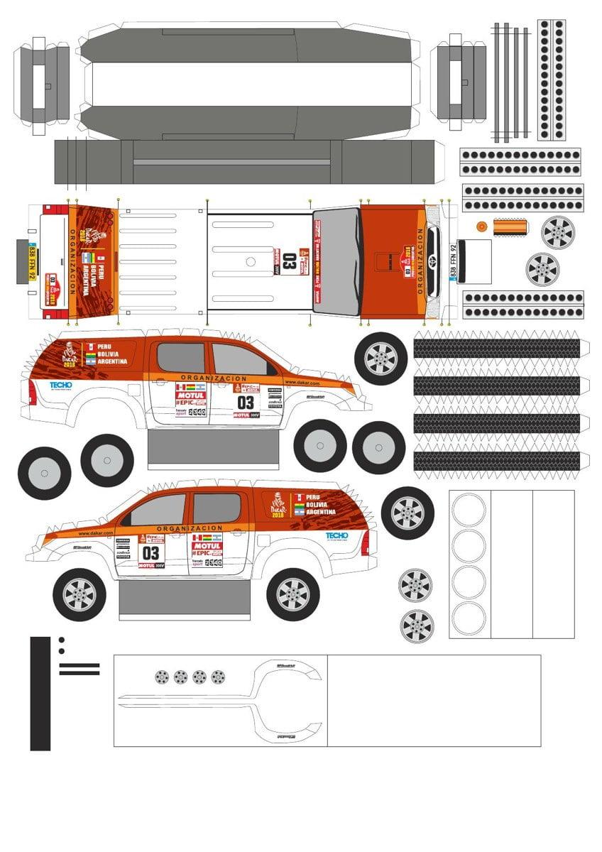 Toyota Hilux Bricolage en papier Voitures