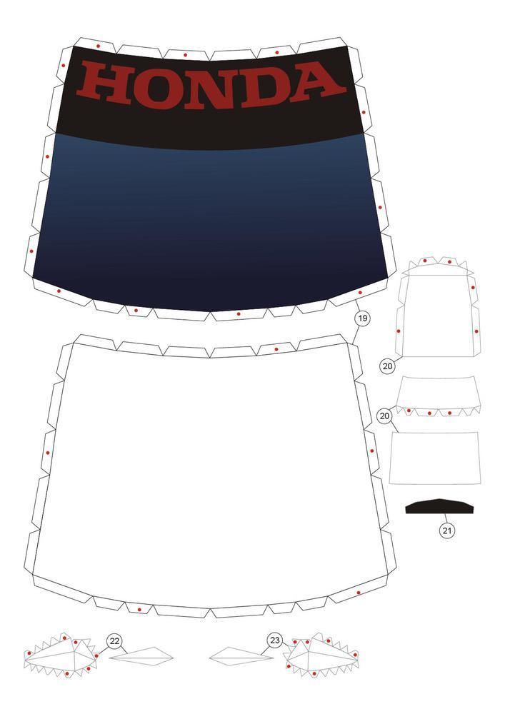 Honda Civic Bricolage en papier Voitures