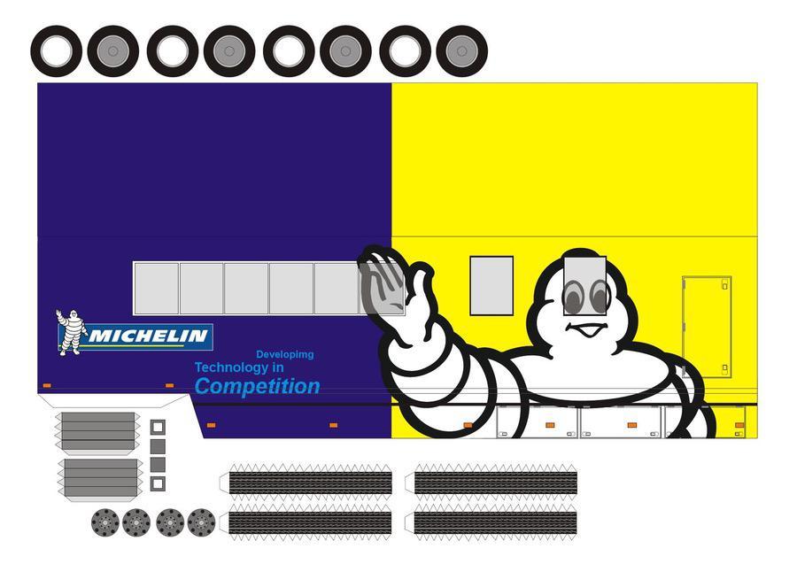 Michelin Lastkraftwagen Autos Papiermodelle
