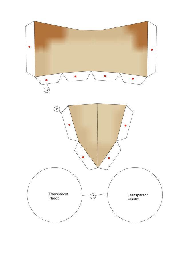 Masque Bricolage en papier Échelle 1/1