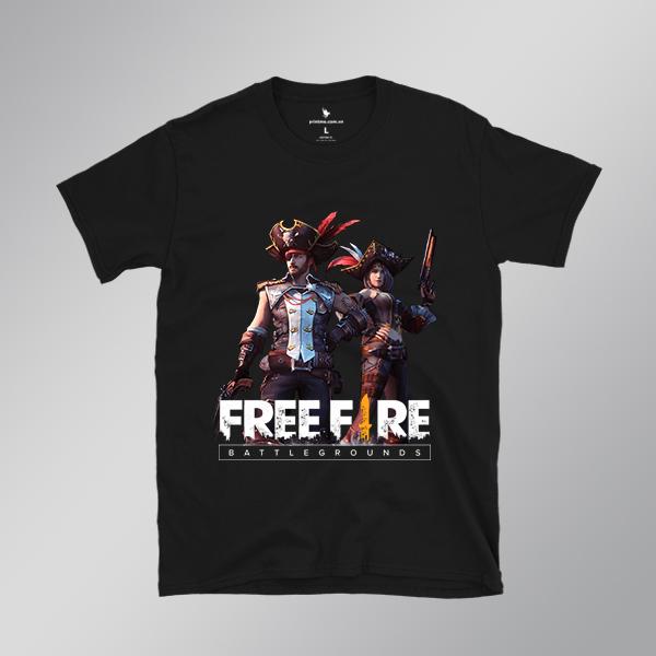 Áo thun game free fire 2 - áo đen