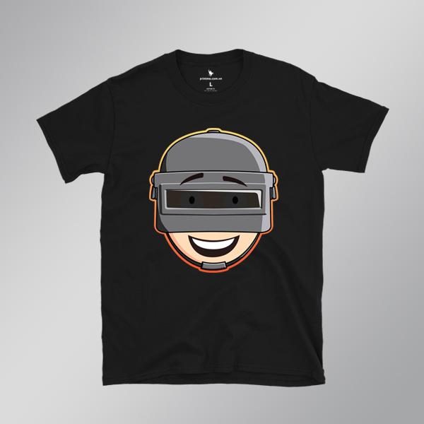 Áo game Pubg Helmet Chibi đen