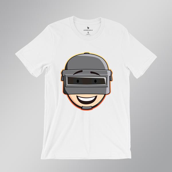 Áo game Pubg Helmet Chibi trắng