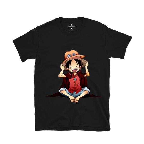 Áo Anime Monkey D. Luffy - áo đen
