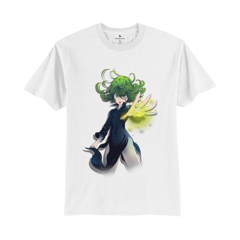 Áo anime Tatsumaki 2 trắng