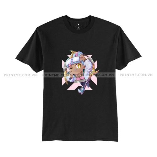 Áo thun game Qiyana Truedamage Chibi trắng - áo game Liên Minh Printme