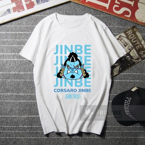 Áo Thun Jinbe - One Piece - áo trắng
