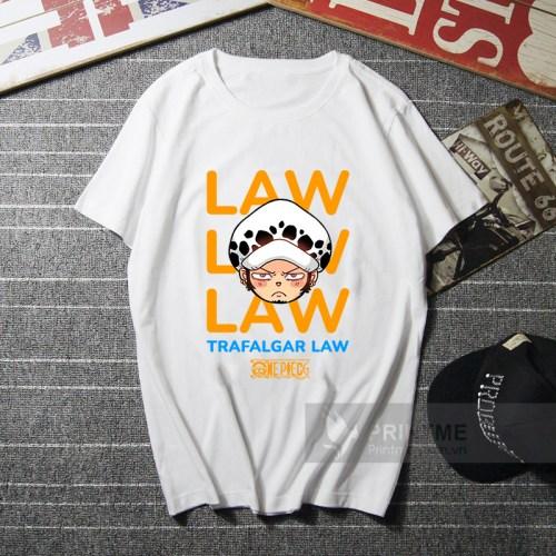 Áo Thun Law - One Piece - áo trắng