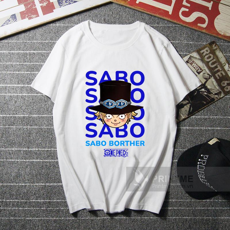 Áo Thun Sabo - One Piece - áo trắng