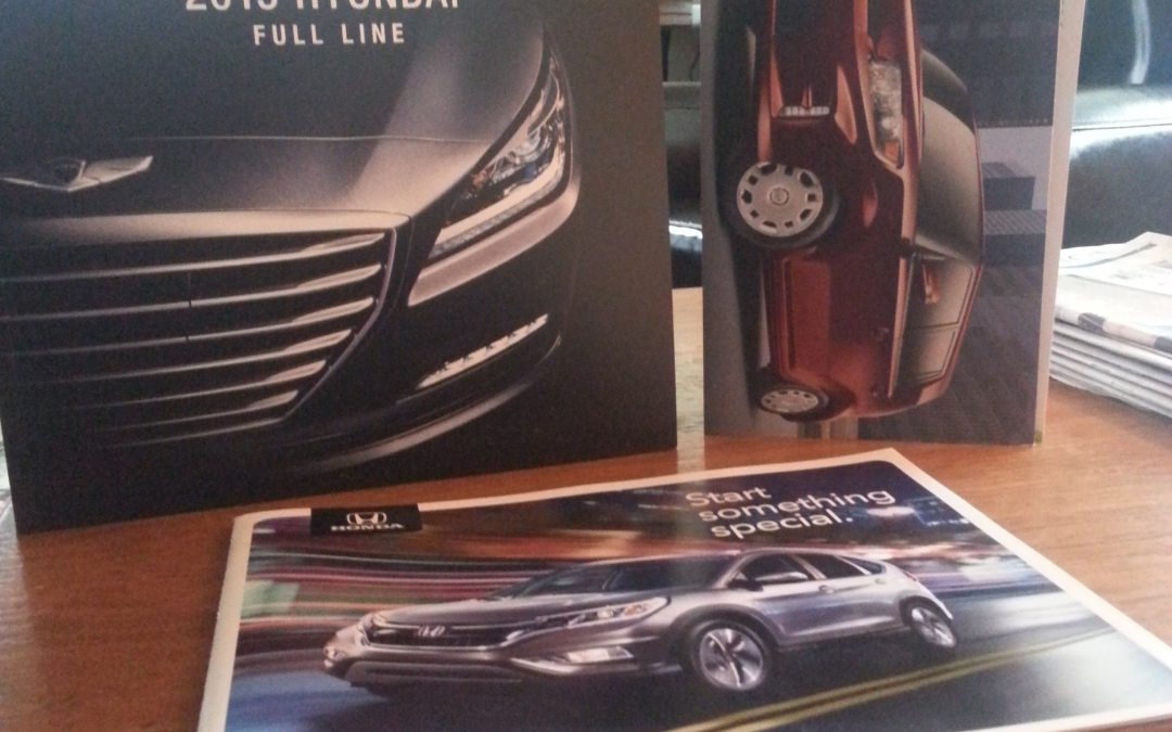 Busy Salespeople Let Print Do the Talking to Teens at Portland Auto Show