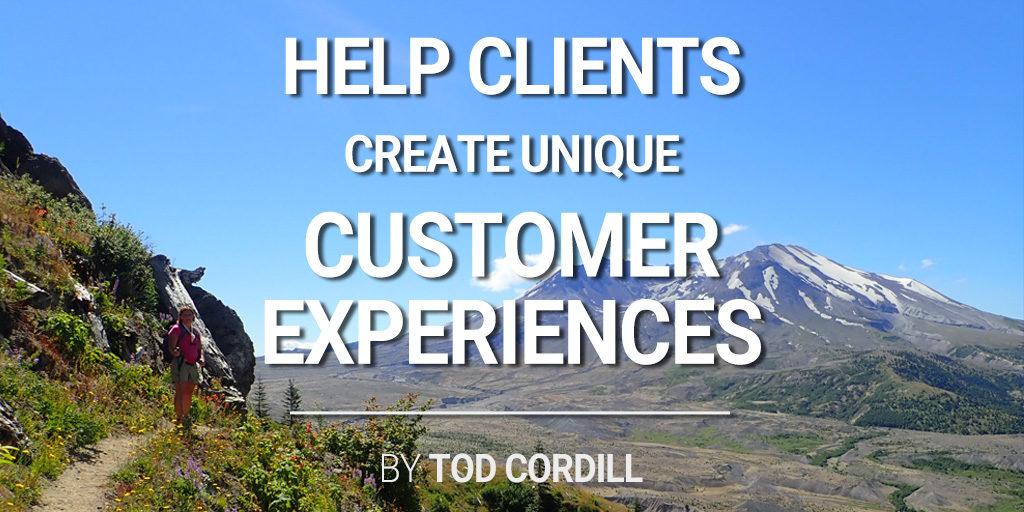 help clients create unique customer experiences